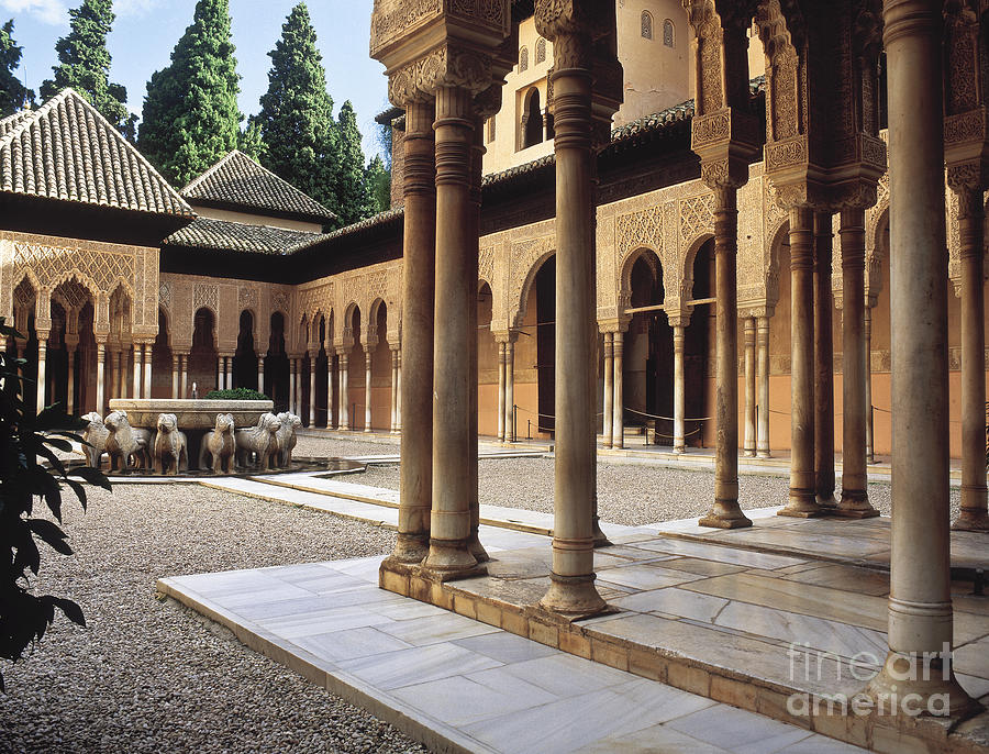 The Alhambra Patio De Los Leones Photograph  - The Alhambra Patio De Los Leones Fine Art Print