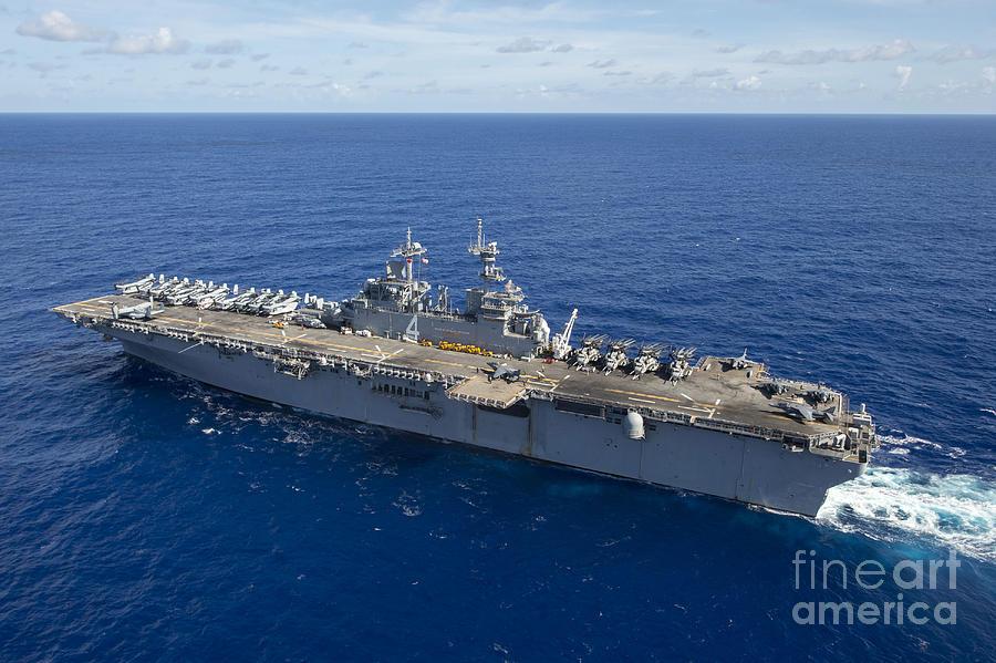 Uss Boxer Photograph - The Amphibious Assault Ship Uss Boxer by Stocktrek Images