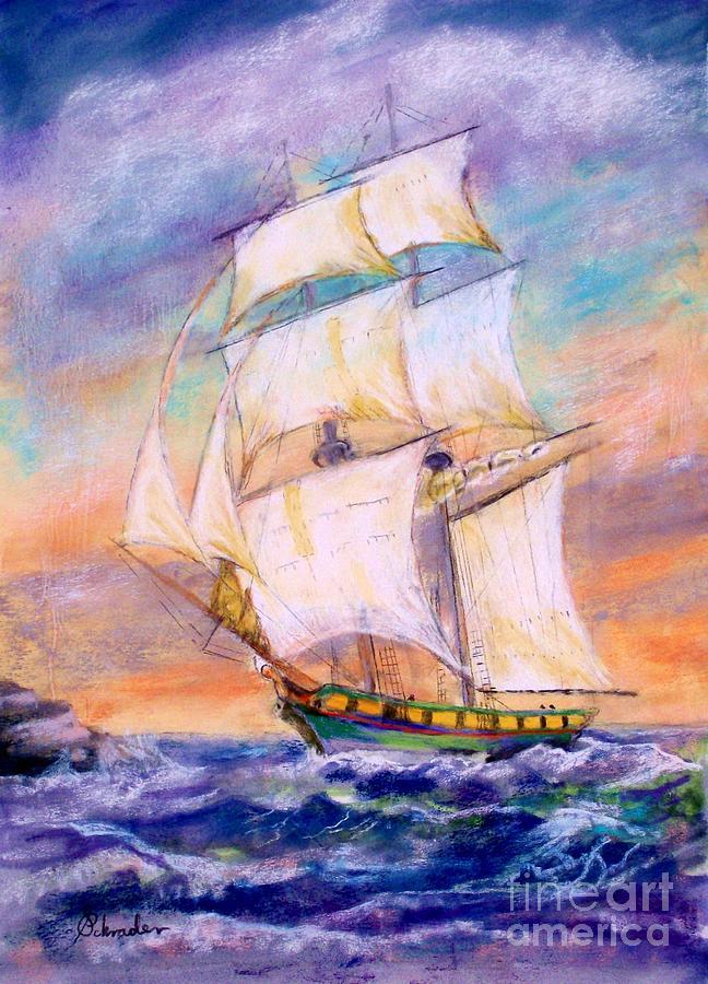The Brig Pastel