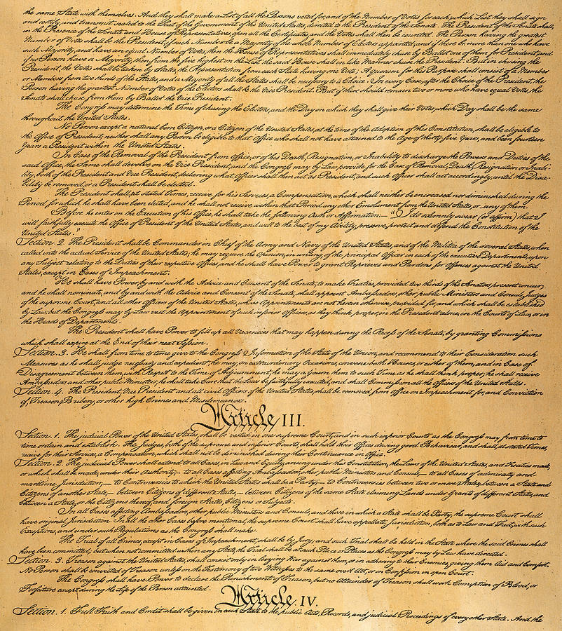 The Constitution, 1787 Photograph
