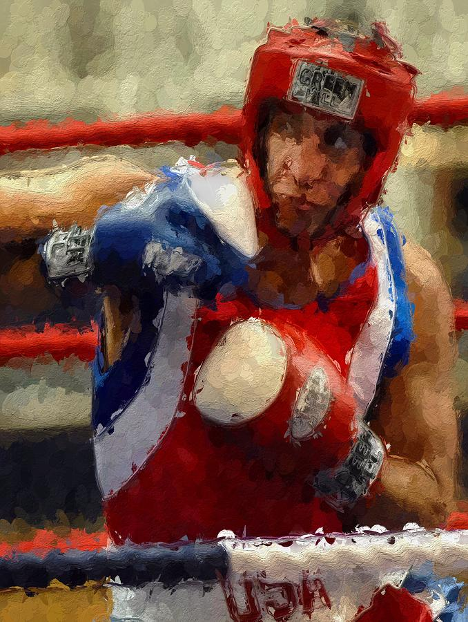 The Fighter Painting