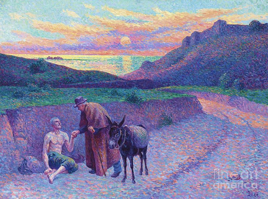 The Good Samaritan Art Painting By Maximilien Luce