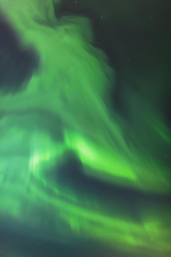 The Green Northern Lights Corona Photograph
