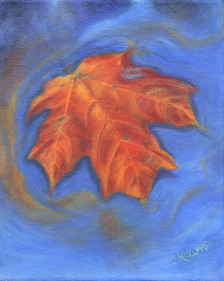 The Lonely Leaf Painting  - The Lonely Leaf Fine Art Print