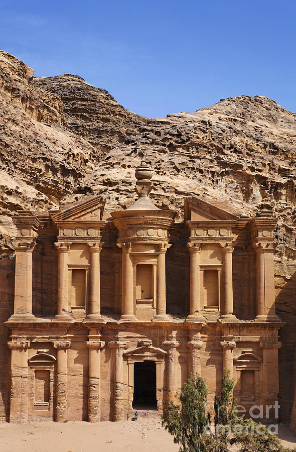 The Monastery At Petra In Jordan Photograph