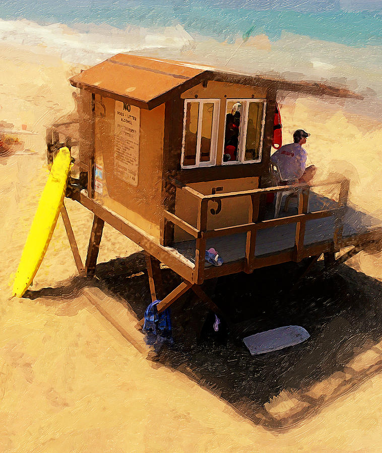 Lifeguard Station At San Clemente State Beach Photograph - The Ocean Guard by Ron Regalado