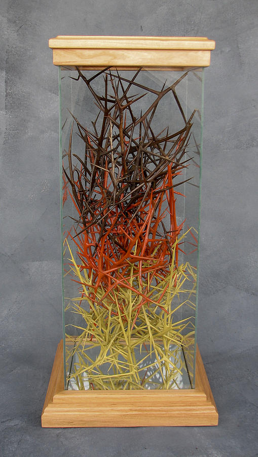 Thorns Sculpture - The Point Is Transition by Lonnie C Tapia