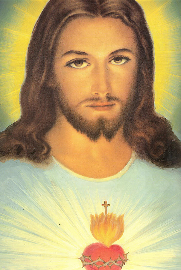 Sacred Painting - The Sacred Heart Of Jesus by French School