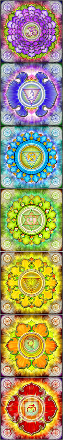 The Seven Chakras Series 2012 Digital Art