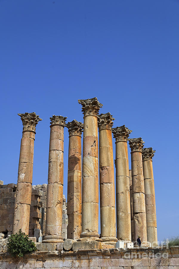 The Temple Of Artemis At Jerash Jordan Photograph  - The Temple Of Artemis At Jerash Jordan Fine Art Print