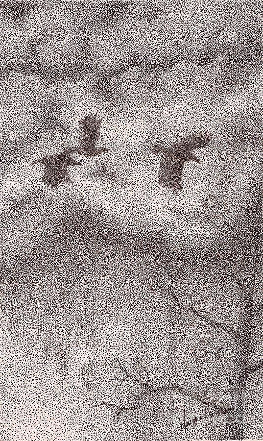 Three Crows Drawing
