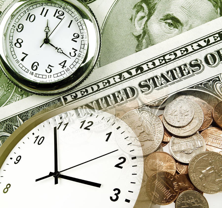 Time Is Money Concept Photograph  - Time Is Money Concept Fine Art Print
