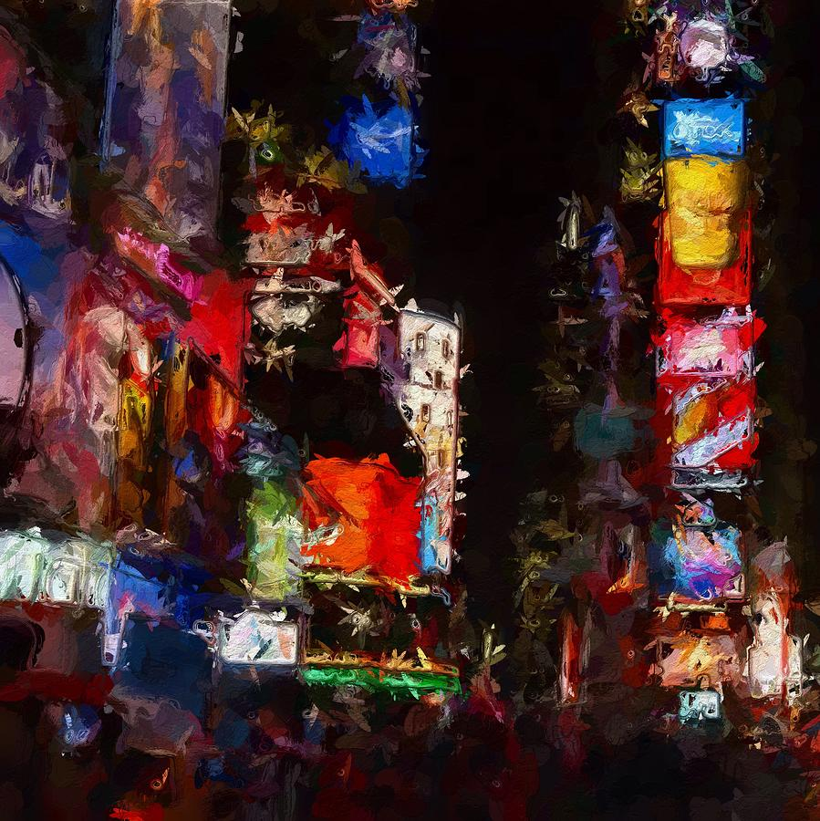 Times Square By Night Painting