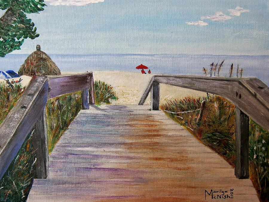 To The Beach Painting  - To The Beach Fine Art Print