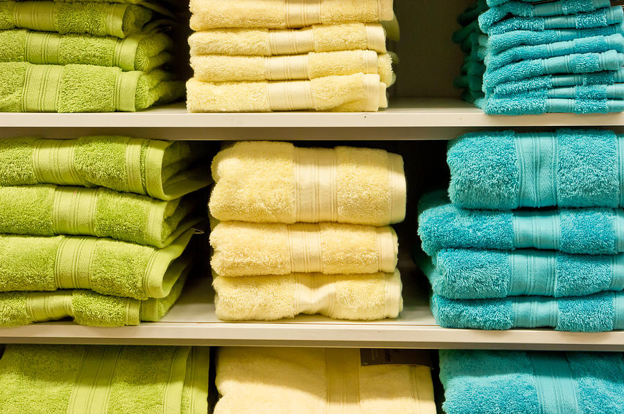 Assortment Photograph - Towels by Tom Gowanlock