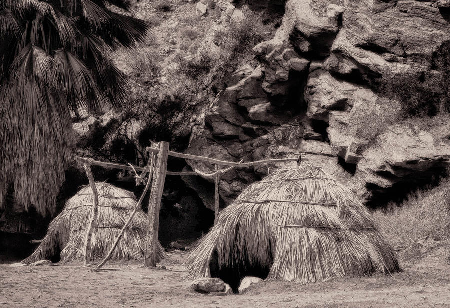 Traditional Cahuilla Indian Huts Photograph