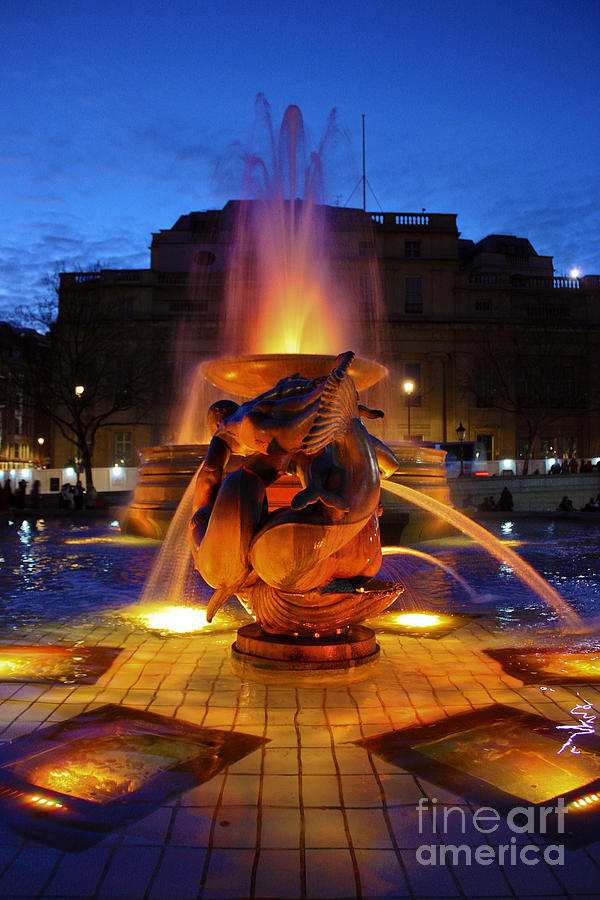 Trafalgar Square Fountain Photograph