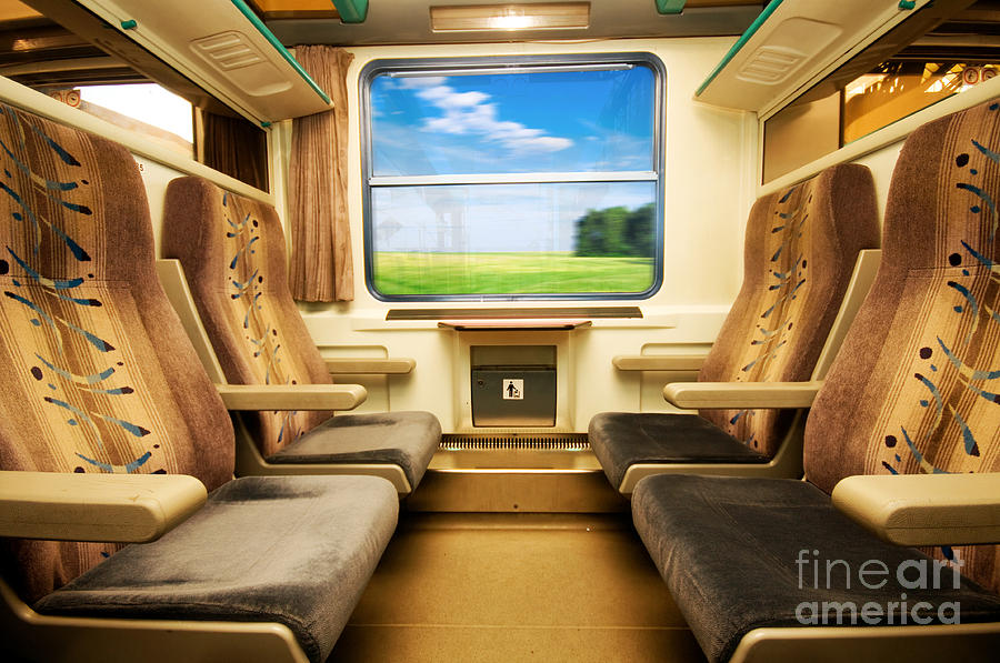 Travel In Comfortable Train. Photograph  - Travel In Comfortable Train. Fine Art Print