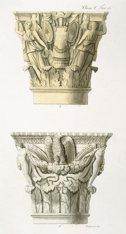 Two Column Capitals Drawing