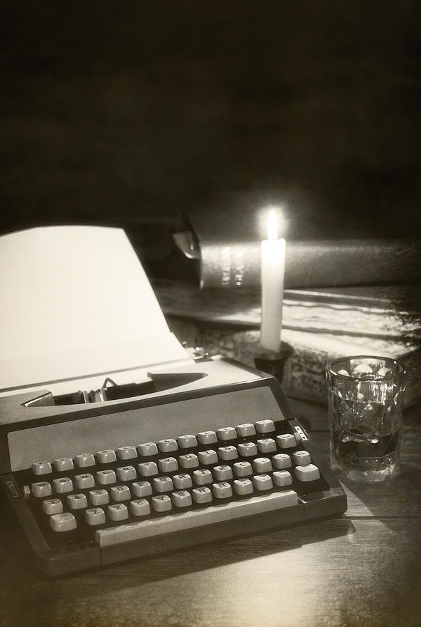 Typewriter By Candlelight Photograph
