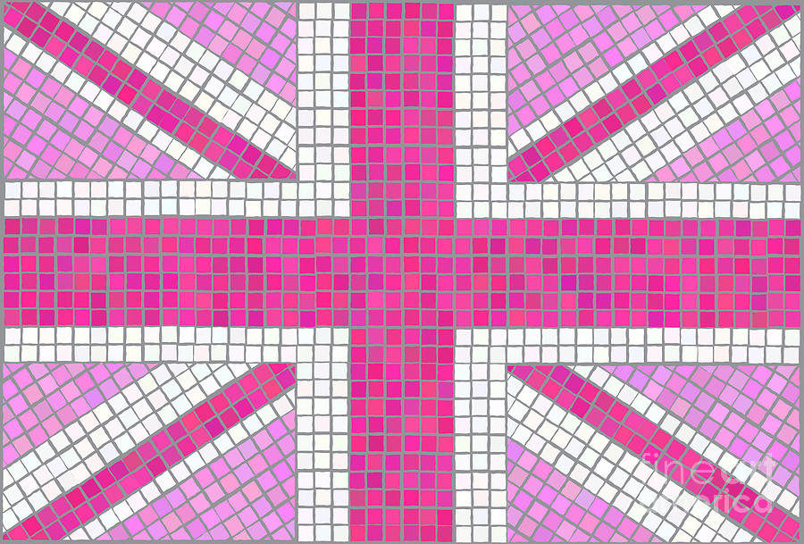 Union Jack Pink Digital Art