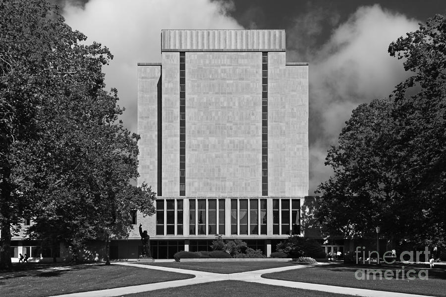 University Of Notre Dame Hesburgh Library Photograph  - University Of Notre Dame Hesburgh Library Fine Art Print