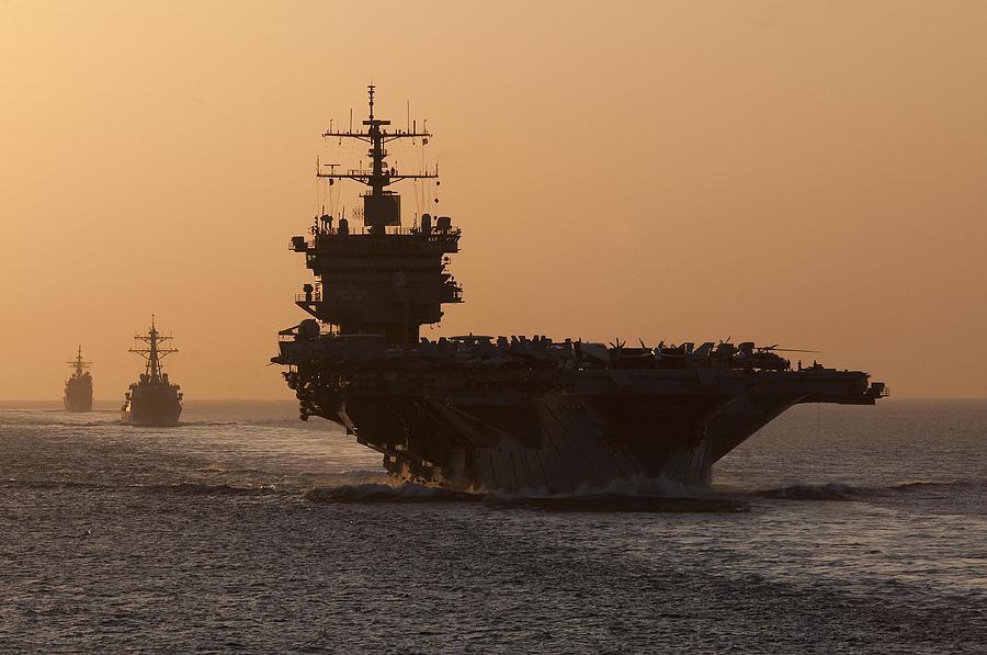 U.s. Navy Photograph - Uss Enterprise by Mountain Dreams