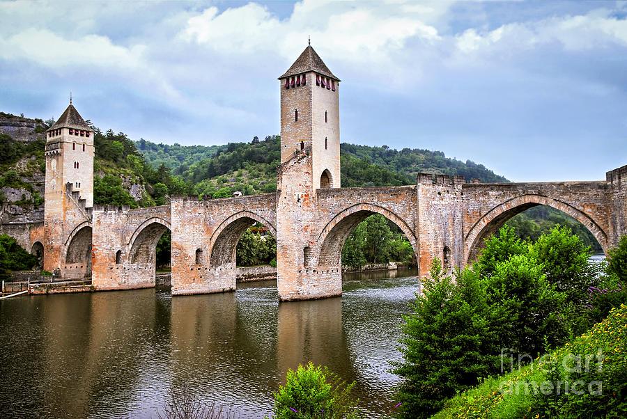 Valentre Bridge In Cahors France Photograph