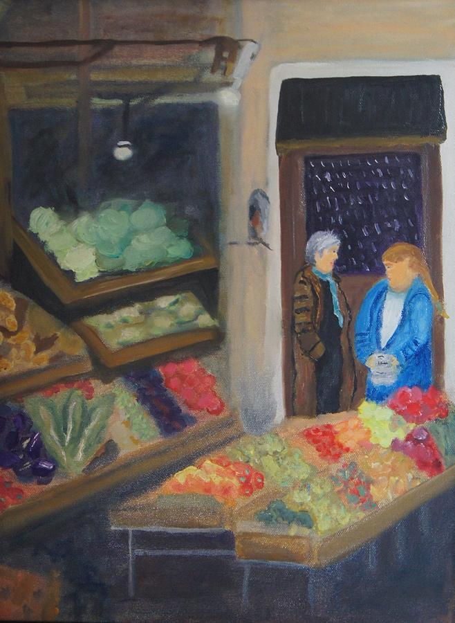 Venice Fruit Market Painting