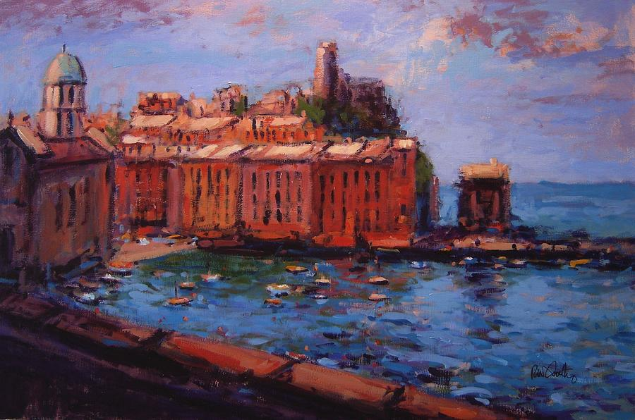 Vernazza From The Train Painting  - Vernazza From The Train Fine Art Print