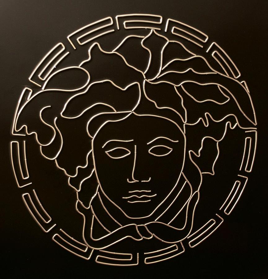 Versace Mixed Media - Versace Medusa Head by Peter Virgancz