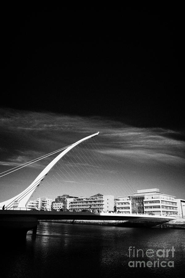 View Of The Samuel Beckett Bridge Over The River Liffey Dublin Republic Of Ireland Photograph