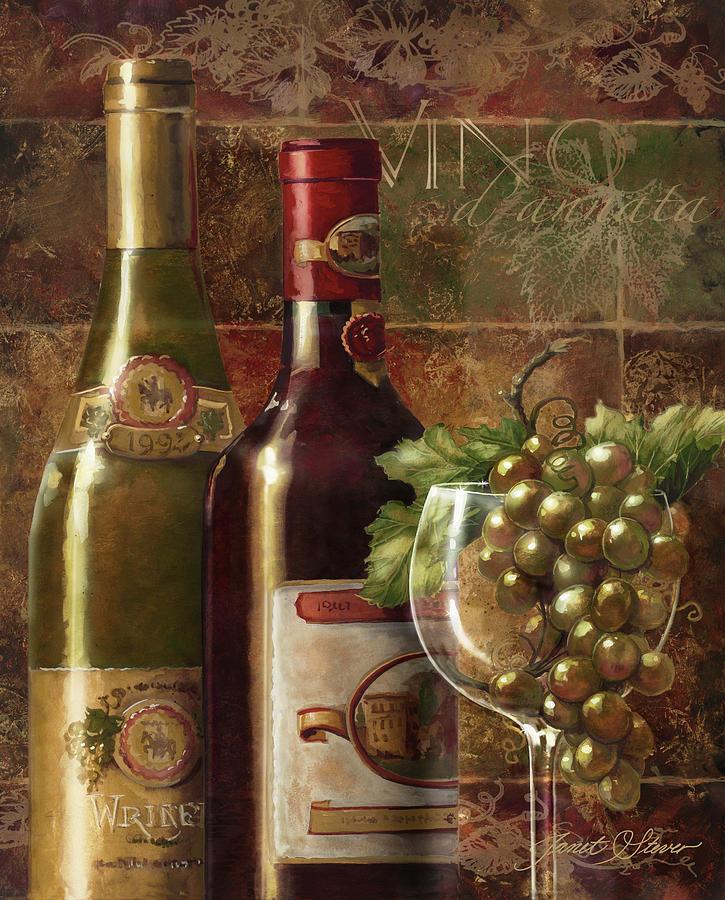 Janet Stever Painting - Vino Dannata by Janet Stever