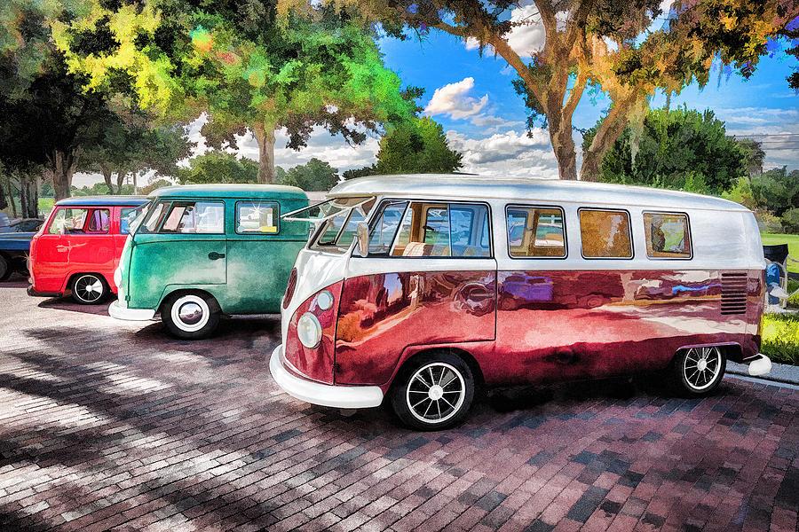 1964 Vw Truck : Vw bus stop vans trucks painted photograph