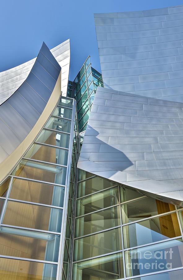 Walt Disney Photograph - Walt Disney Concert Hall Vertical Los Angeles Ca by David Zanzinger