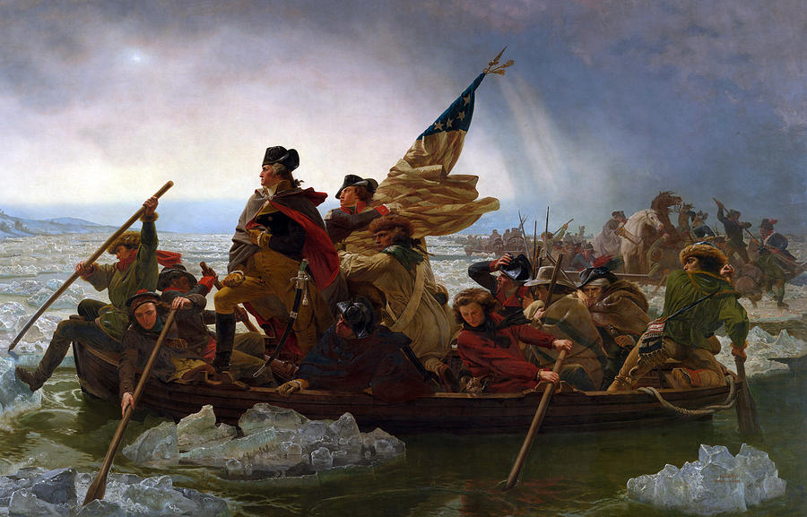 Washington Crossing The Delaware Digital Art  - Washington Crossing The Delaware Fine Art Print