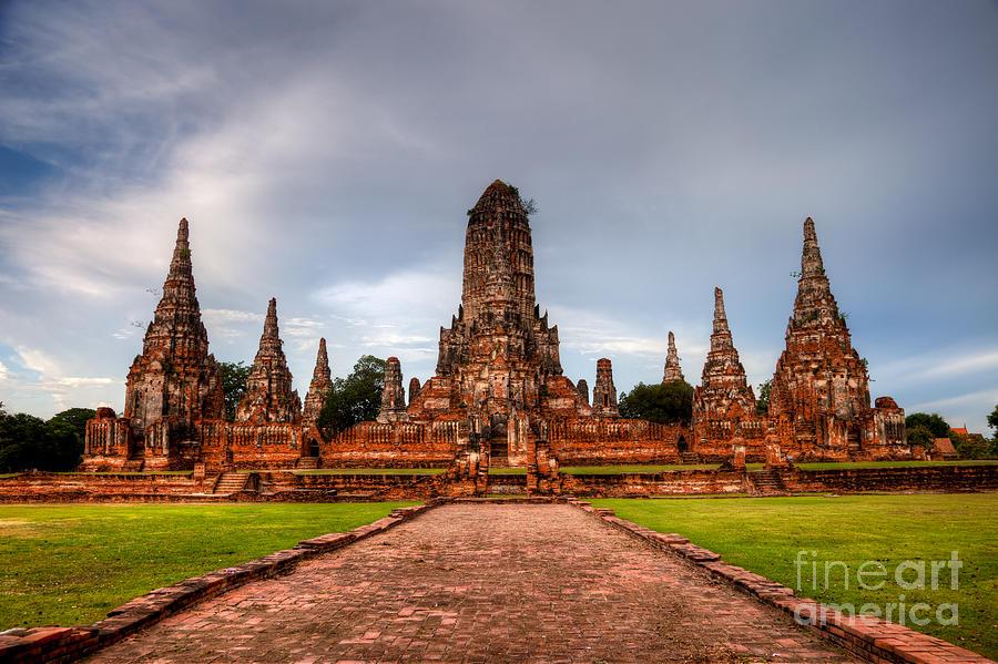 Wat Chaiwatthanaram Ayutthaya Thailand by Fototrav Print