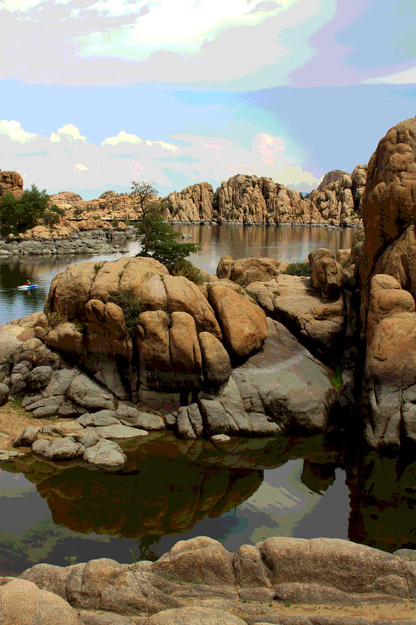Watson Lake Reflections Photograph