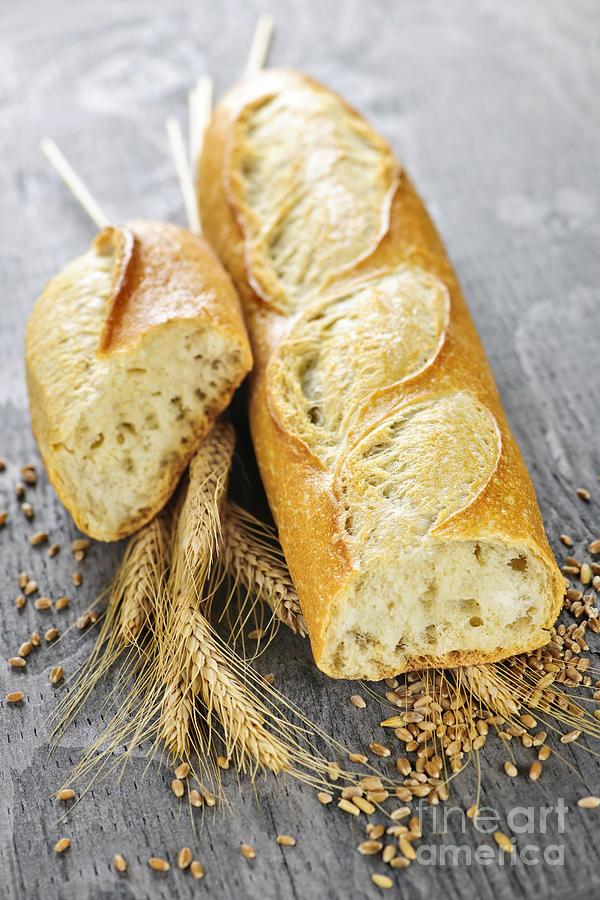 White Baguette Photograph
