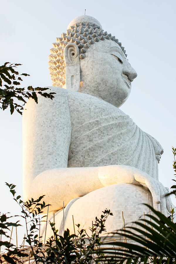 White Big Buddha Photograph  - White Big Buddha Fine Art Print