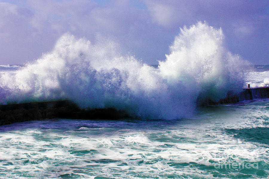 Wild Waves In Cornwall Photograph  - Wild Waves In Cornwall Fine Art Print