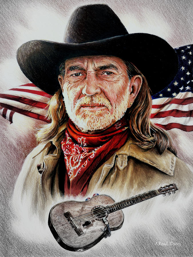 Willie Nelson American Legend Drawing  - Willie Nelson American Legend Fine Art Print