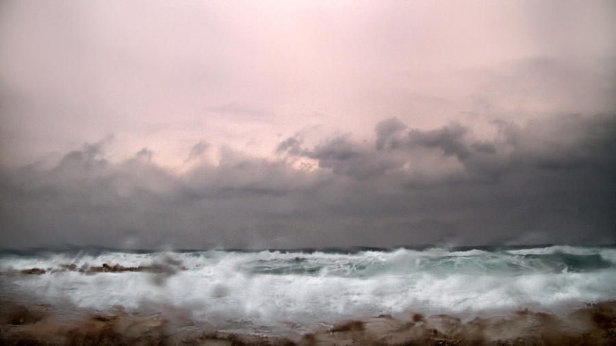 Window Sea Storm  Photograph