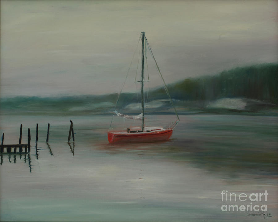 Winter On The Navesink Painting