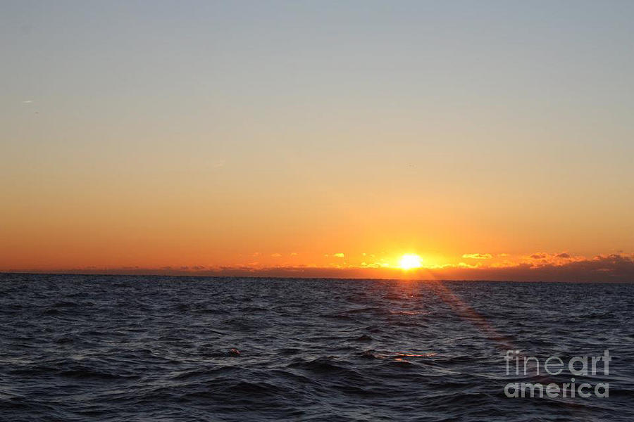 Winter Sunrise Over The Ocean Photograph