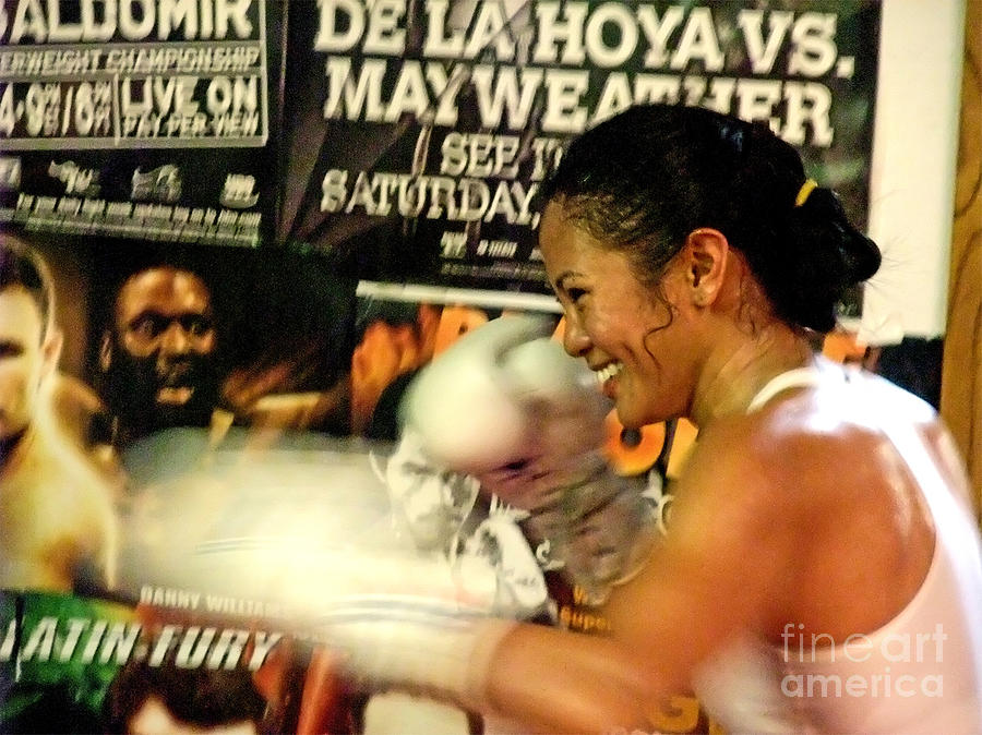 Womans Boxing Champion Filipino American Ana Julaton Photograph