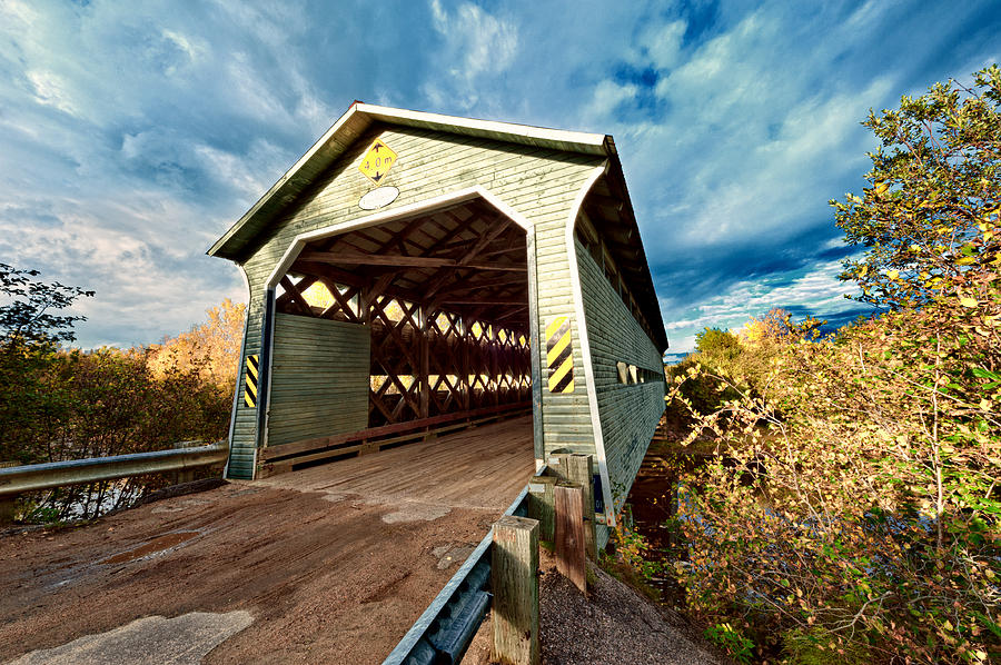Wooden Covered Bridge  Photograph