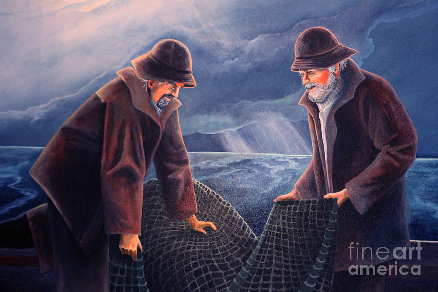 Working The Nets Painting