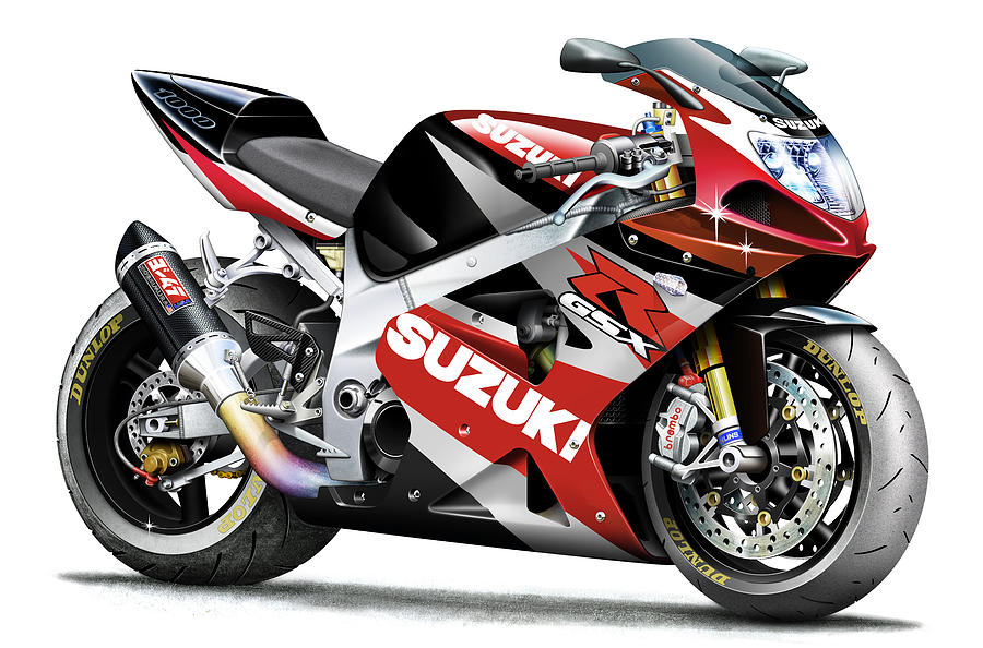 yoshimura tuned 2002 suzuki gsx r 1000 drawing by mark. Black Bedroom Furniture Sets. Home Design Ideas