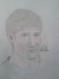Young Brad Pitt Drawing